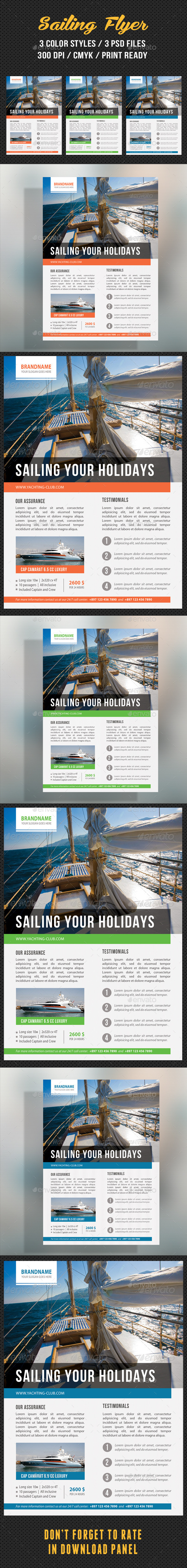GraphicRiver Sailing Yacht Travel Flyer 02 8896728