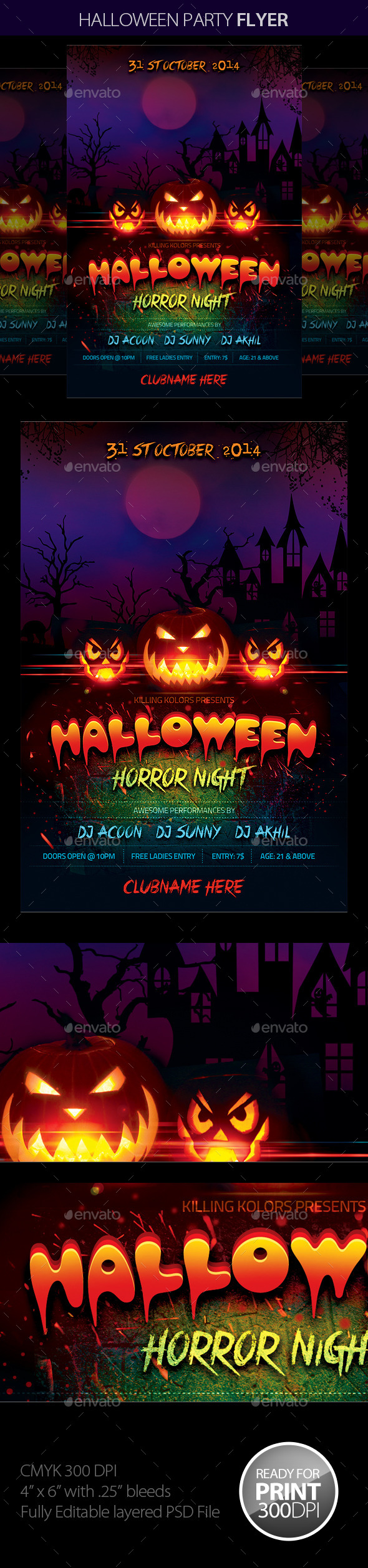 GraphicRiver Halloween Party Flyer 8897185