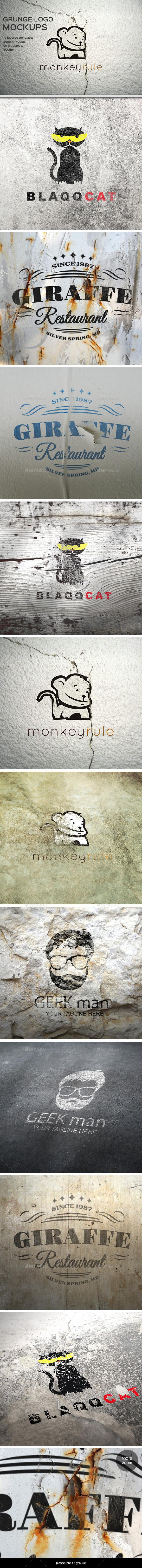GraphicRiver Grunge Logo Mockup 8897209