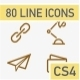 80 Animated Line Icons - VideoHive Item for Sale