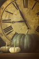 Still life of pumpkins and old clock - PhotoDune Item for Sale