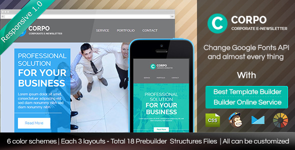 ThemeForest CORPO Responsive Email Template With Builder 8891726