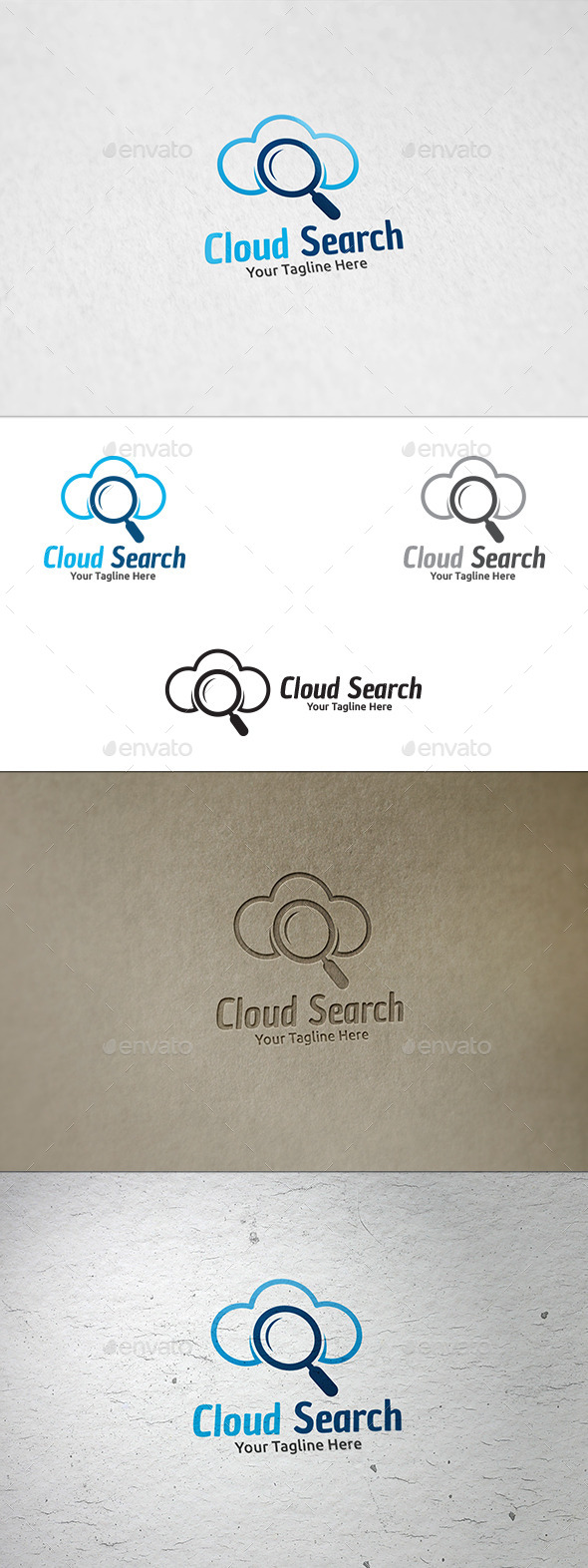 GraphicRiver Cloud Search Logo Template 8897652