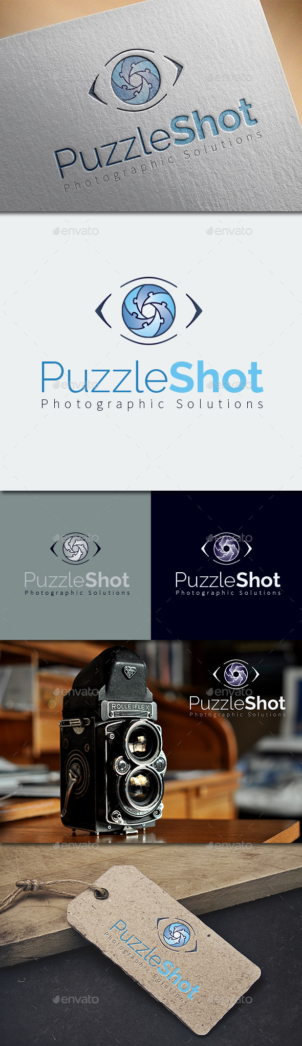 GraphicRiver Puzzle Shot Logo Template 8897687
