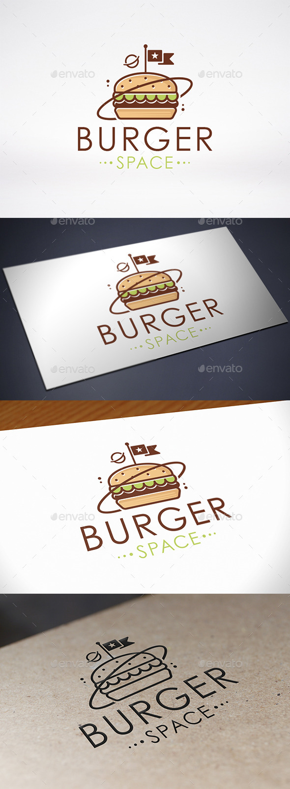 GraphicRiver Space Burger Logo Template 8898261