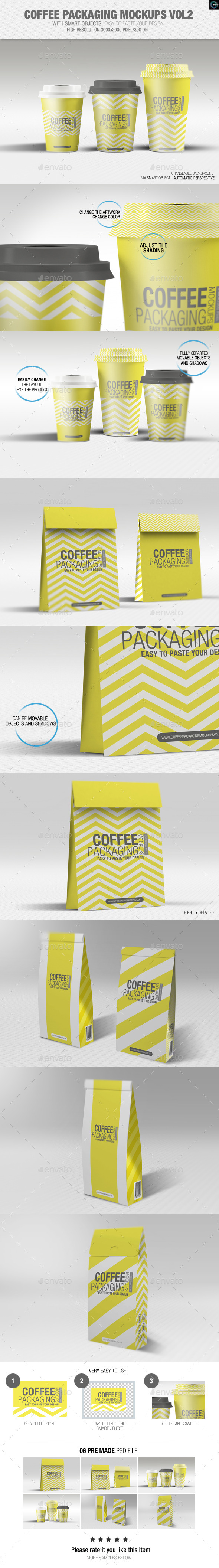 GraphicRiver Coffee Packaging Mockups Vol2 8898448