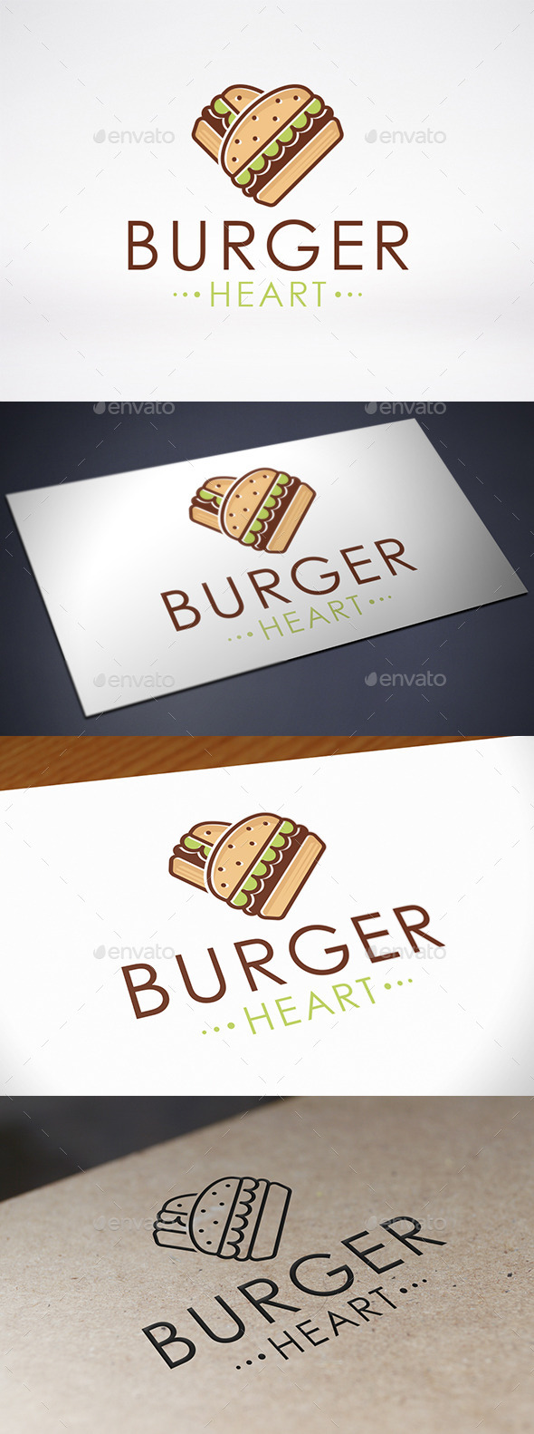 GraphicRiver Burger Love Logo Template 8898578
