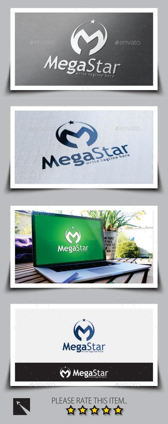 GraphicRiver Star Letter M Logo Template 8898599