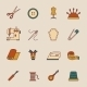 Sewing Equipment Icons Set - GraphicRiver Item for Sale