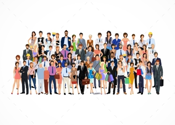 GraphicRiver Large Group of People 8898664