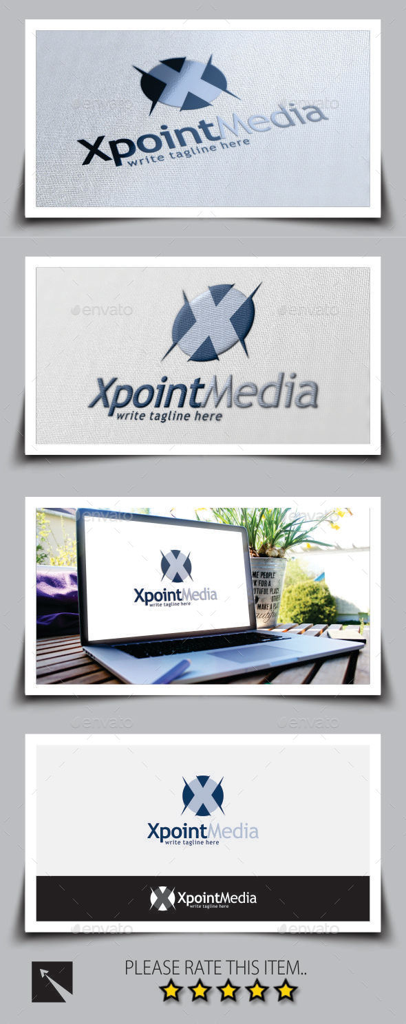 GraphicRiver Xpoint Letter X Logo Template 8898673