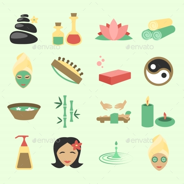 GraphicRiver Spa Icons Set 8898681