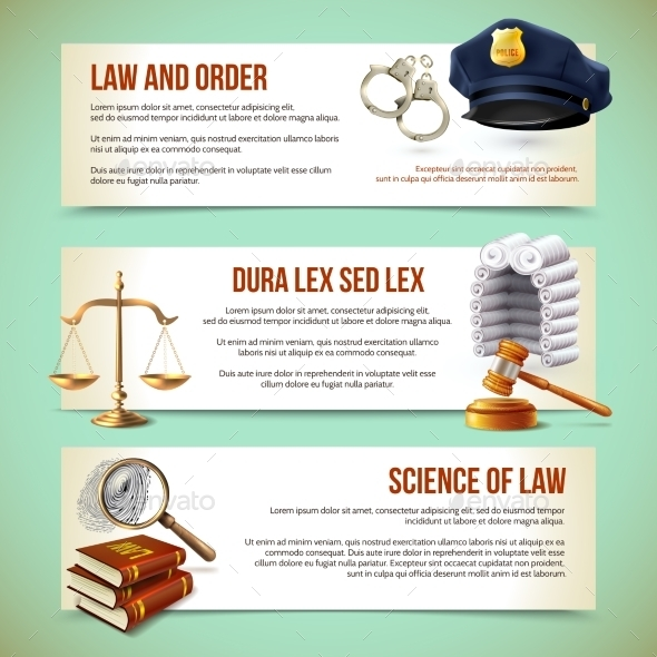 GraphicRiver Law Horizontal Banners 8898695