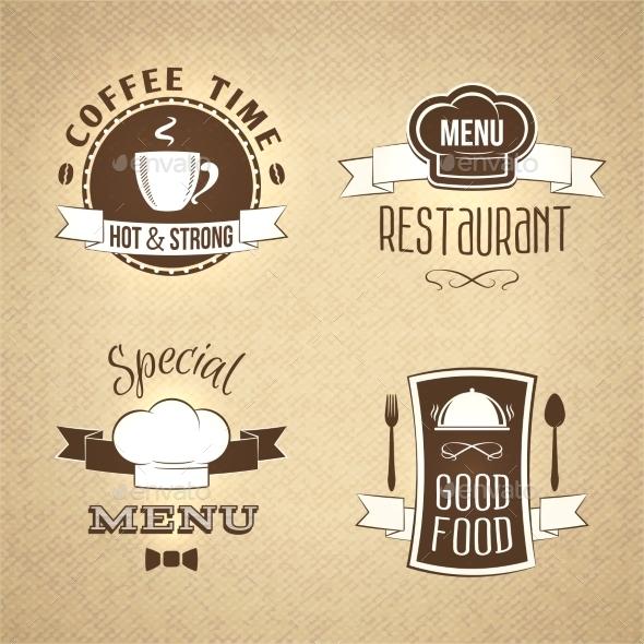 GraphicRiver Restaurant Menu Emblems Set Textured 8898698