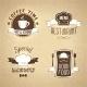 Restaurant Menu Emblems Set Textured - GraphicRiver Item for Sale