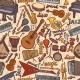 Musical Instruments Sketch Seamless Pattern - GraphicRiver Item for Sale