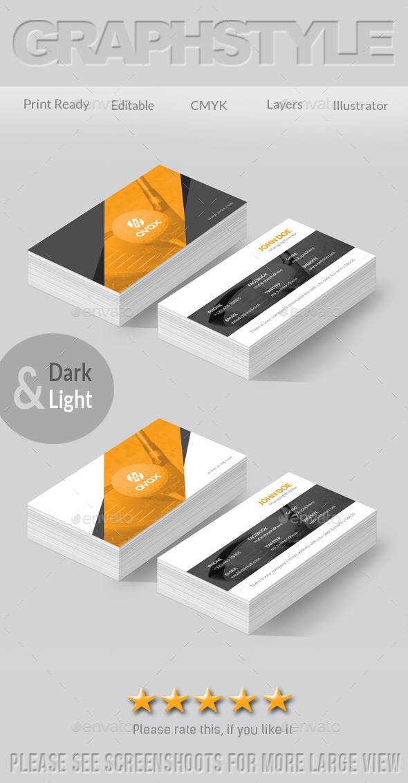GraphicRiver Avax Creative Business Card 8898724