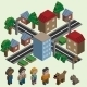 Isometric Pixel City - GraphicRiver Item for Sale