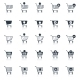 Shopping Cart Icons Black - GraphicRiver Item for Sale