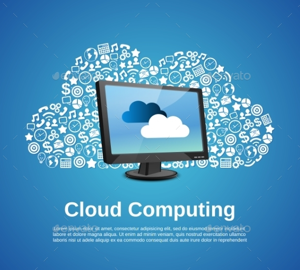 GraphicRiver Cloud Computing Concept 8898873