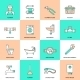 Plumbing Icons Flat Line Set - GraphicRiver Item for Sale