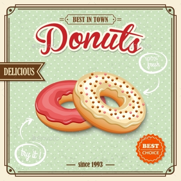 GraphicRiver Donut Retro Poster 8898951