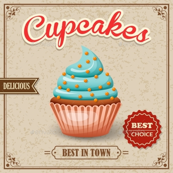 GraphicRiver Cupcake Cafe Poster 8898953