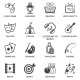 Entertainments Icons Set - GraphicRiver Item for Sale