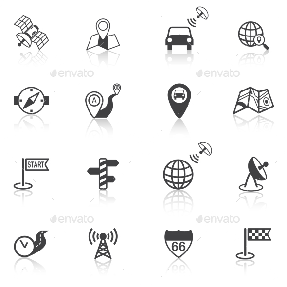 GraphicRiver Mobile Navigation Icons Black 8898960