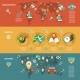 Mobile Navigation Flat Banners Set - GraphicRiver Item for Sale