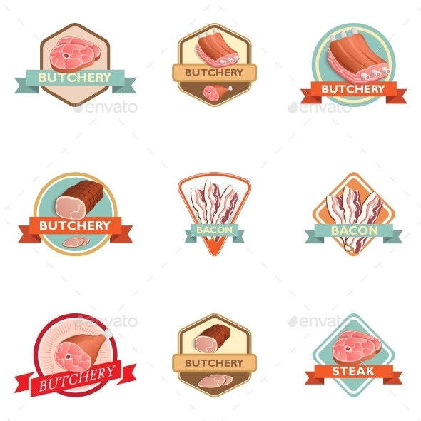 GraphicRiver Meat Label Retro 8898962