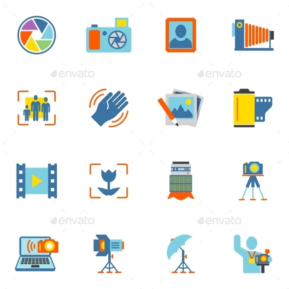 GraphicRiver Photography Icons Flat 8898982
