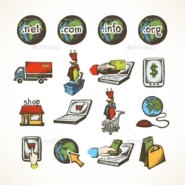 GraphicRiver Internet Shopping Icons 8898986