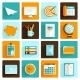 Office Icons Set Flat - GraphicRiver Item for Sale