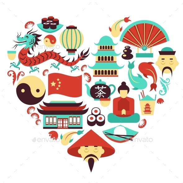 GraphicRiver China Symbols Heart 8899079
