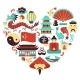 China Symbols Heart - GraphicRiver Item for Sale