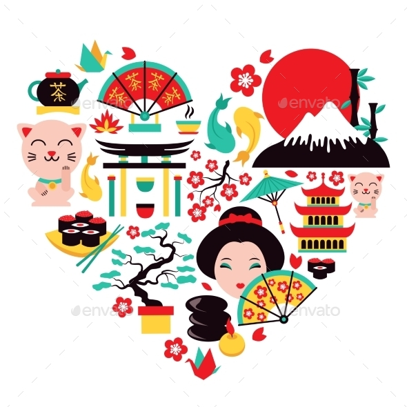GraphicRiver Japan Symbols Heart 8899080