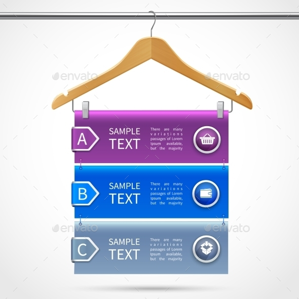 GraphicRiver Clothes Hanger Sale Infographics 8899082