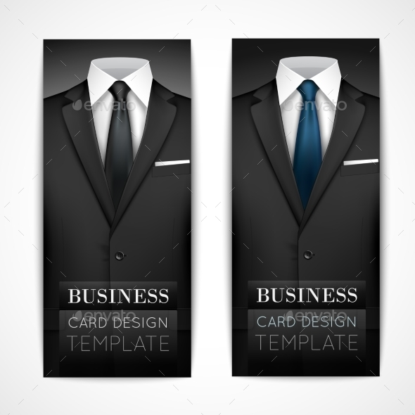 GraphicRiver Businessman Suit Invitation Collection 8899087