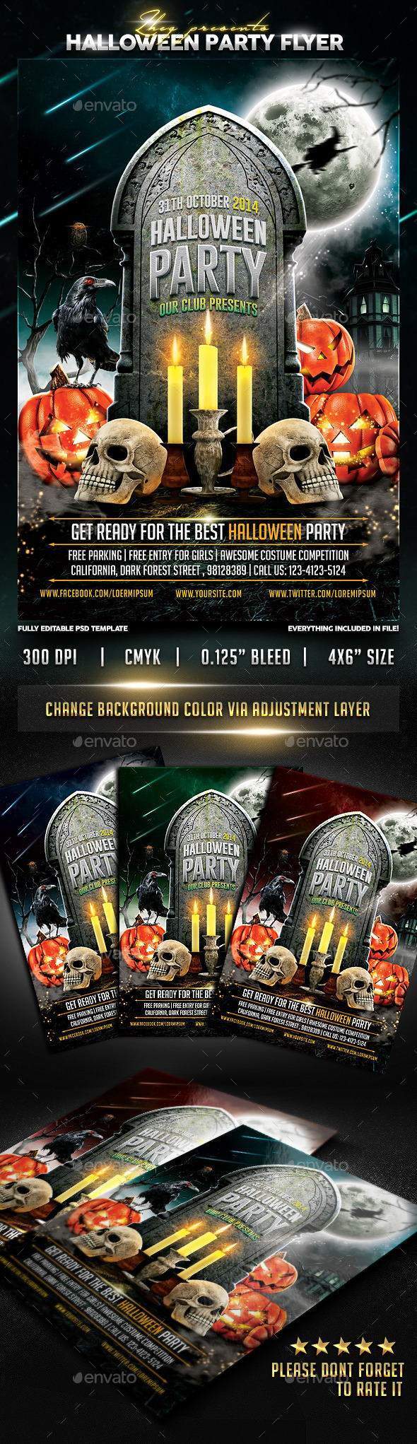 GraphicRiver Halloween Party Flyer Template 8899096