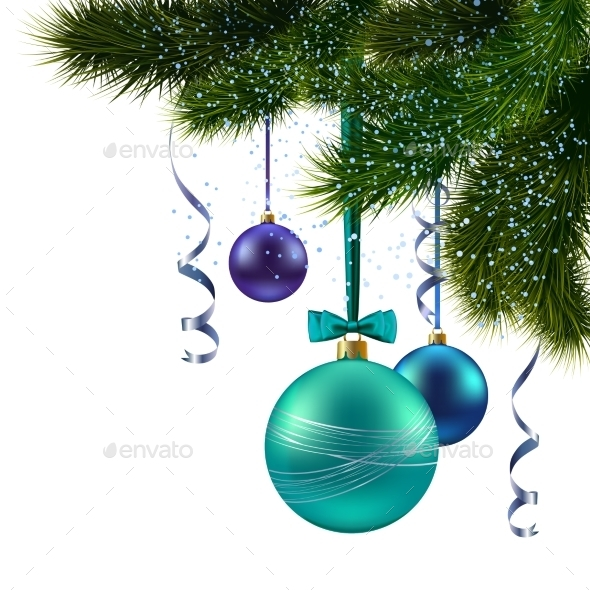 GraphicRiver Christmas Tree Branch 8899097