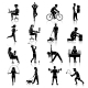 Physical Activity Icons Black - GraphicRiver Item for Sale