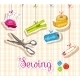 Sewing Sketch Composition - GraphicRiver Item for Sale