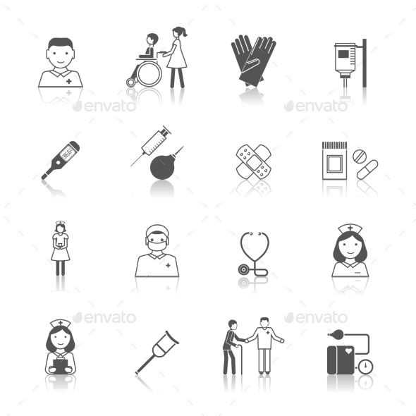 GraphicRiver Nurse Icon Set 8899121