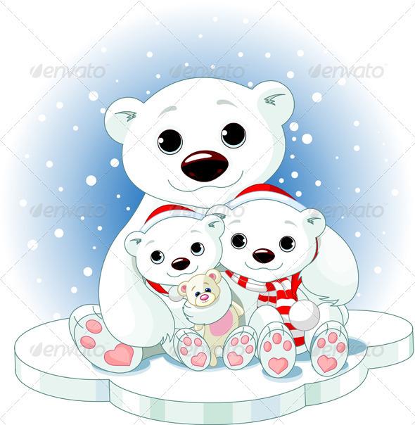 Graphic River Christmas Polar Bear Family Vectors -  Conceptual  Seasons/Holidays  Christmas 907701