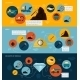 Mining Icons Flat Banner Set - GraphicRiver Item for Sale