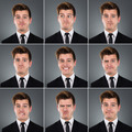 Collage Of Businessman With Various Expressions - PhotoDune Item for Sale