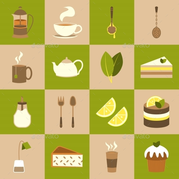 GraphicRiver Tea Icons Set 8899140