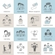 Teamwork Icons Line Flat - GraphicRiver Item for Sale