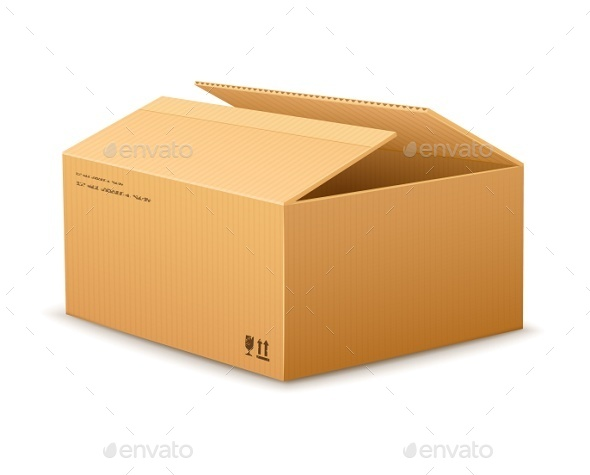 GraphicRiver Opening Cardboard Delivery Packaging Box 8899160